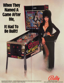 Elvira and the Party Monsters flyer