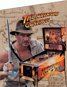 Indiana Jones: The Pinball Adventure flyer